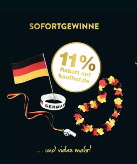 Galeria Kaufhof - Gratis-WM-Artikel mit Schminke, Pfeife, Fahne etc.