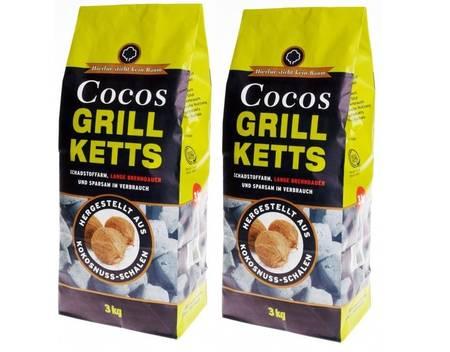 60Kg Cocos Grill Ketts, ökologische Grillkohle-Briketts, aus Kokosnussschalen für 58,00 mit NL