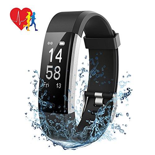 [Amazon MP] Fitness Tracker,Mpow Fitness Armbänder Fitnessuhr mit Pulsmesser, Aktivitätstracker,Herzfrequenzmonitor,Schlafmonitor,Schrittzähler mit 14 Trainingsmodi, 4 Uhrzeiger,GPS-Routenverfolgung,Alarme,Kameraaufnahme