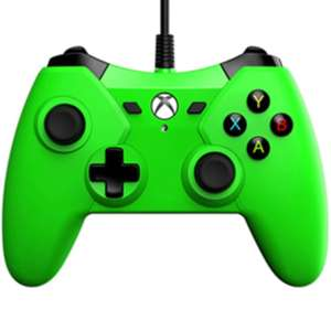 PowerA 1428130, Gamepad, Xbox One, Analog, Verkabelt, USB, 3 m, neongrün