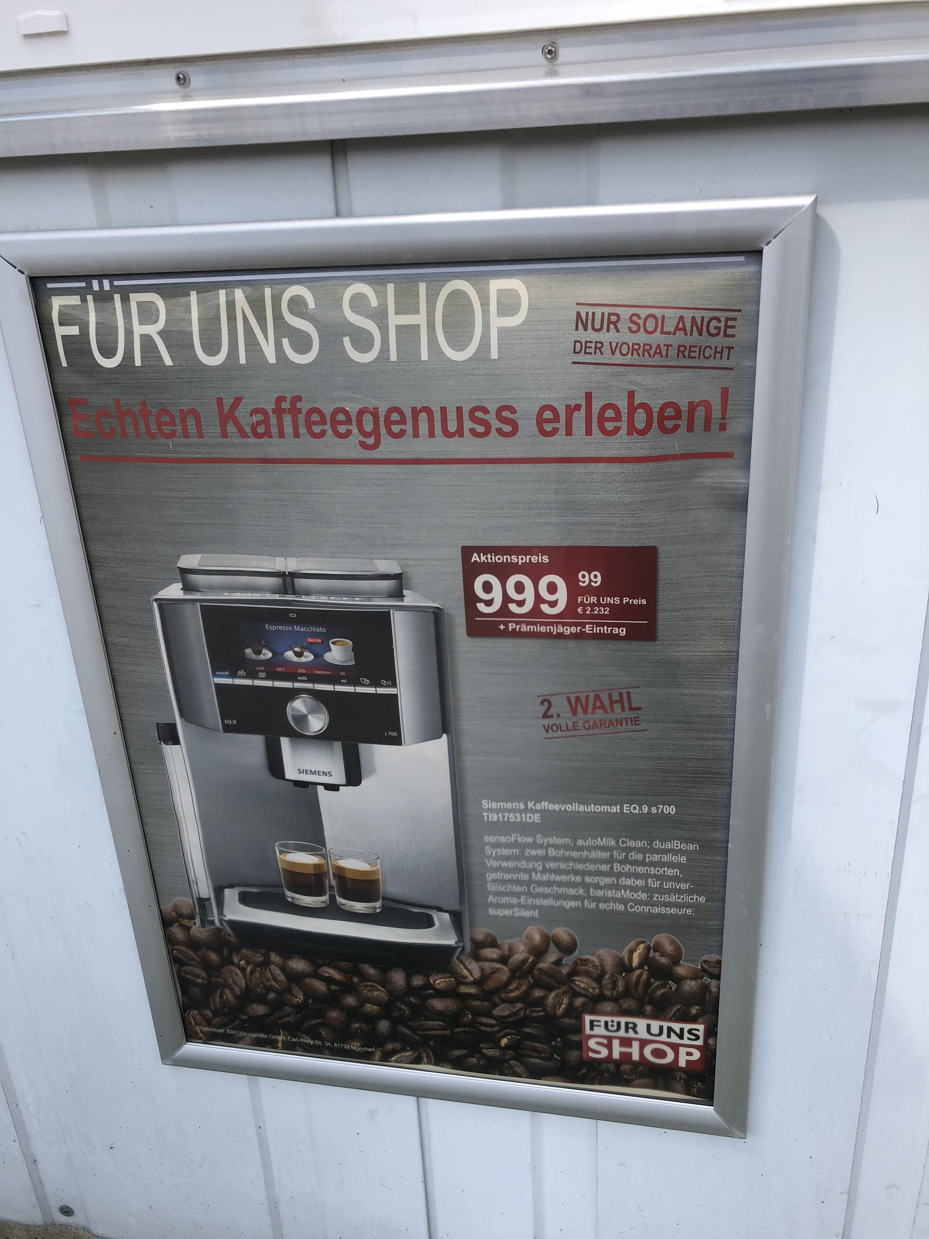(LOKAL) Siemens EQ 9 S700 / EQ 9 S300 etc. * 2. Wahl * (die von mir gekaufte Maschine war keine 2. Wahl) München