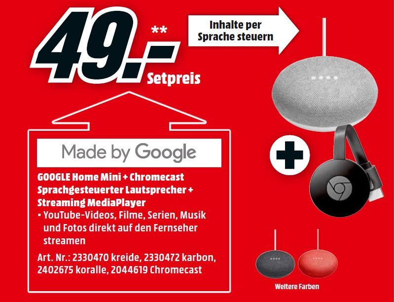 Google Home Mini + Google Chromecast 2. Generation