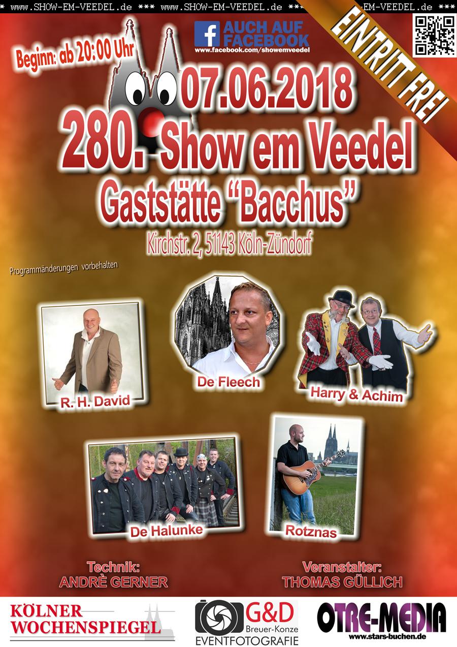 Köln - 280. Show em Veedel - 07.06.2018 - 20 Uhr - Eintritt frei