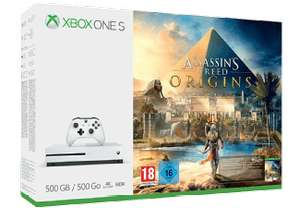 Xbox One S 500GB + Assassins's Creed Origins + FIFA 18 für 169€ und weitere Bundles (Saturn)