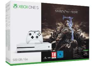 [Saturn] Verschiedene Xbox Consolen wie zb.. MICROSOFT Xbox One S 500GB Konsole - Mittelerde: Schatten des Krieges +FIFA 18 für 169,-€