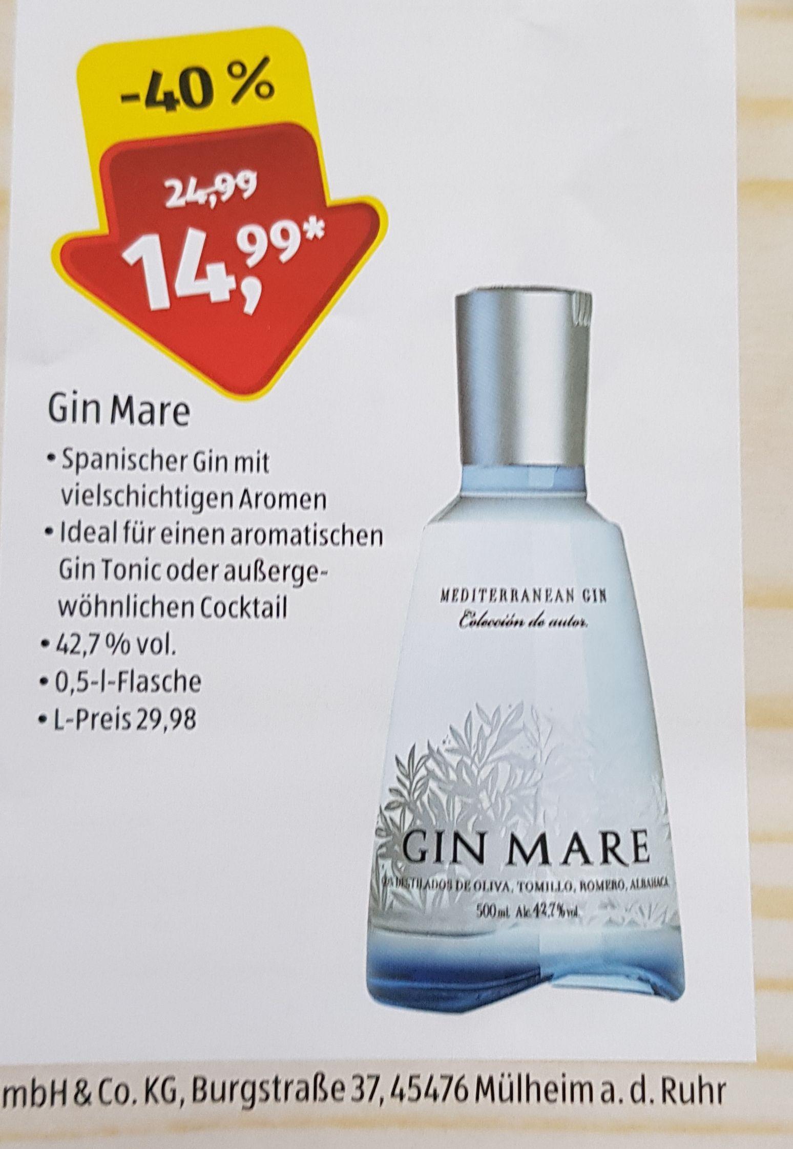 Gin Mare 0,5 Liter Mülheim an der Ruhr (Nur in Forum am HBF)Aldi Süd Neu Eröffnungspreis
