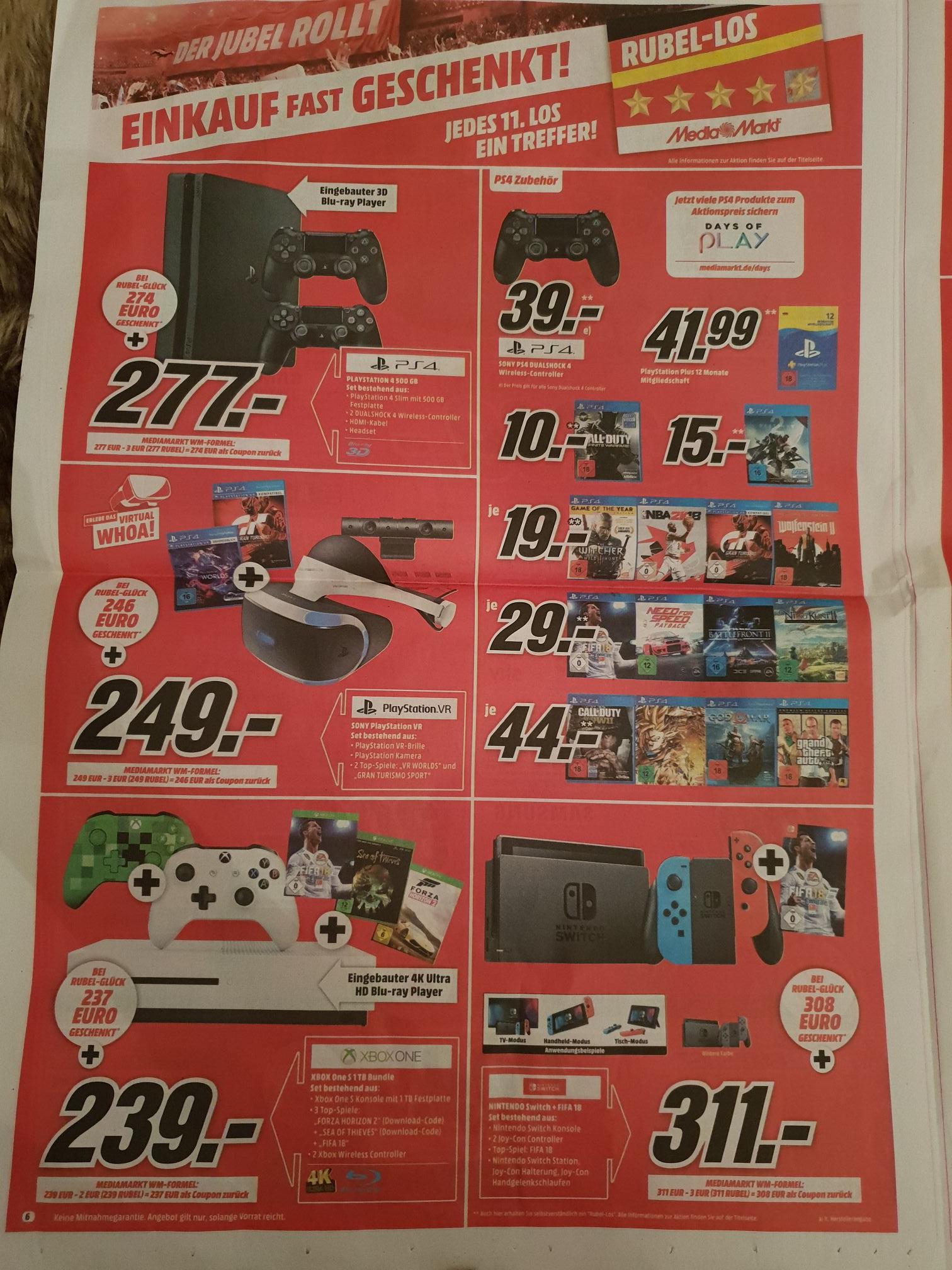 Media Markt Sammeldeal - z.B. 39€ für alle Sony PS4 Dualshock 4 Controller!!!
