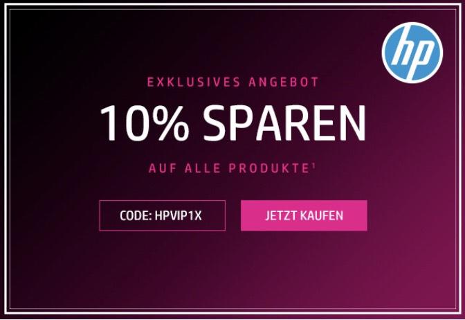 10% Auf alle HP Produkte