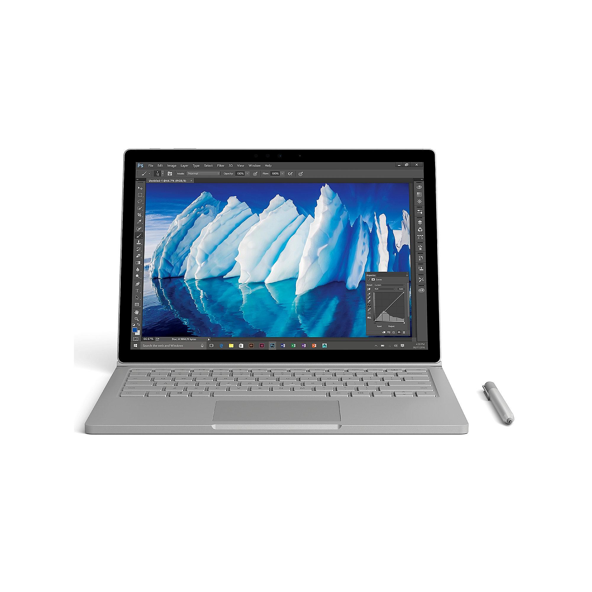 Microsoft Surface Book mit Performance Base (i7-6600U, GTX 965M) für 1192,95€ [Cyberport + Amazon]