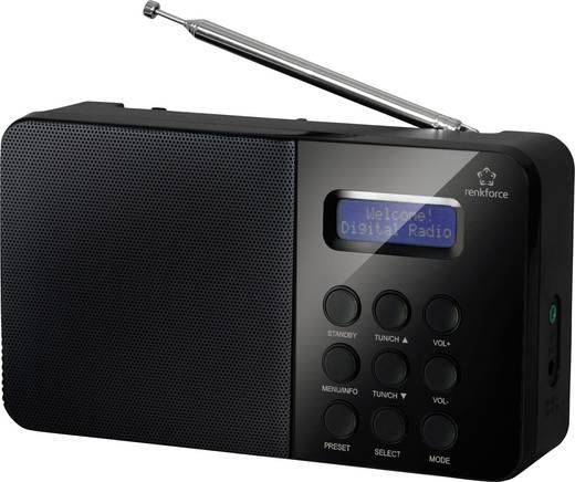 [Conrad] Renkforce NE-6208 DAB+ Kofferradio DAB+, UKW Schwarz