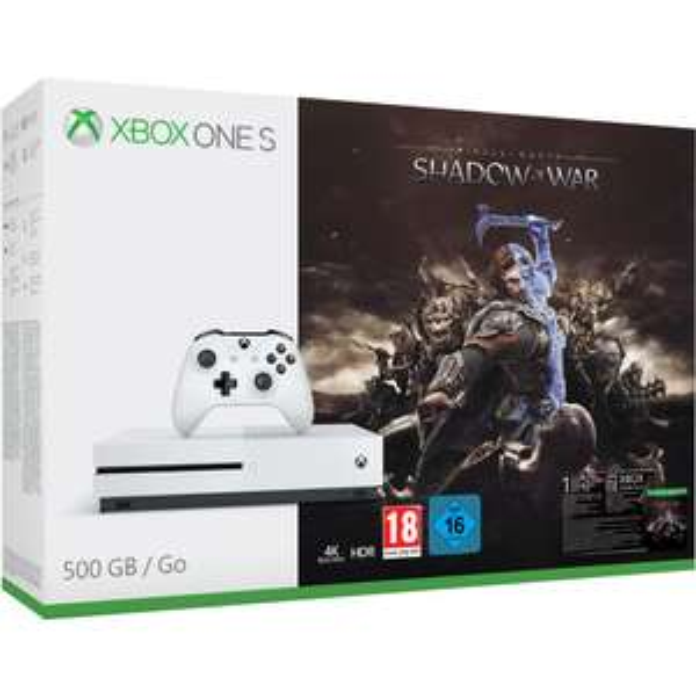Xbox One S  + Assassins's Creed Origins oder Xbox One S + Mittelerde: Schatten des Krieges für 158€ für 135,20€ (eBay)