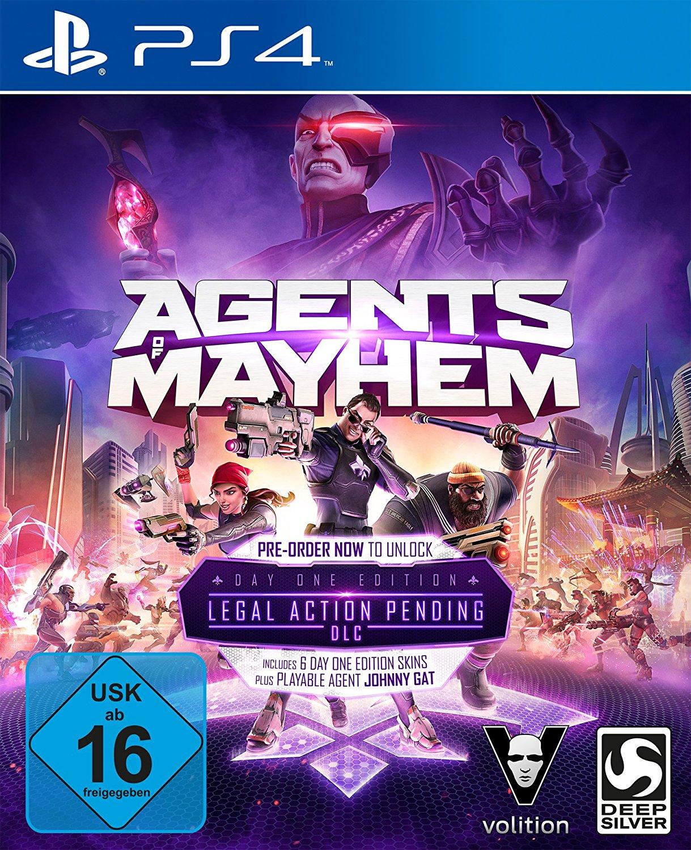 Agents of Mayhem Day One Edition (PS4) inkl. Legal Action Pending DLC für 5€ (Base.com & Media Markt & Amazon Prime)