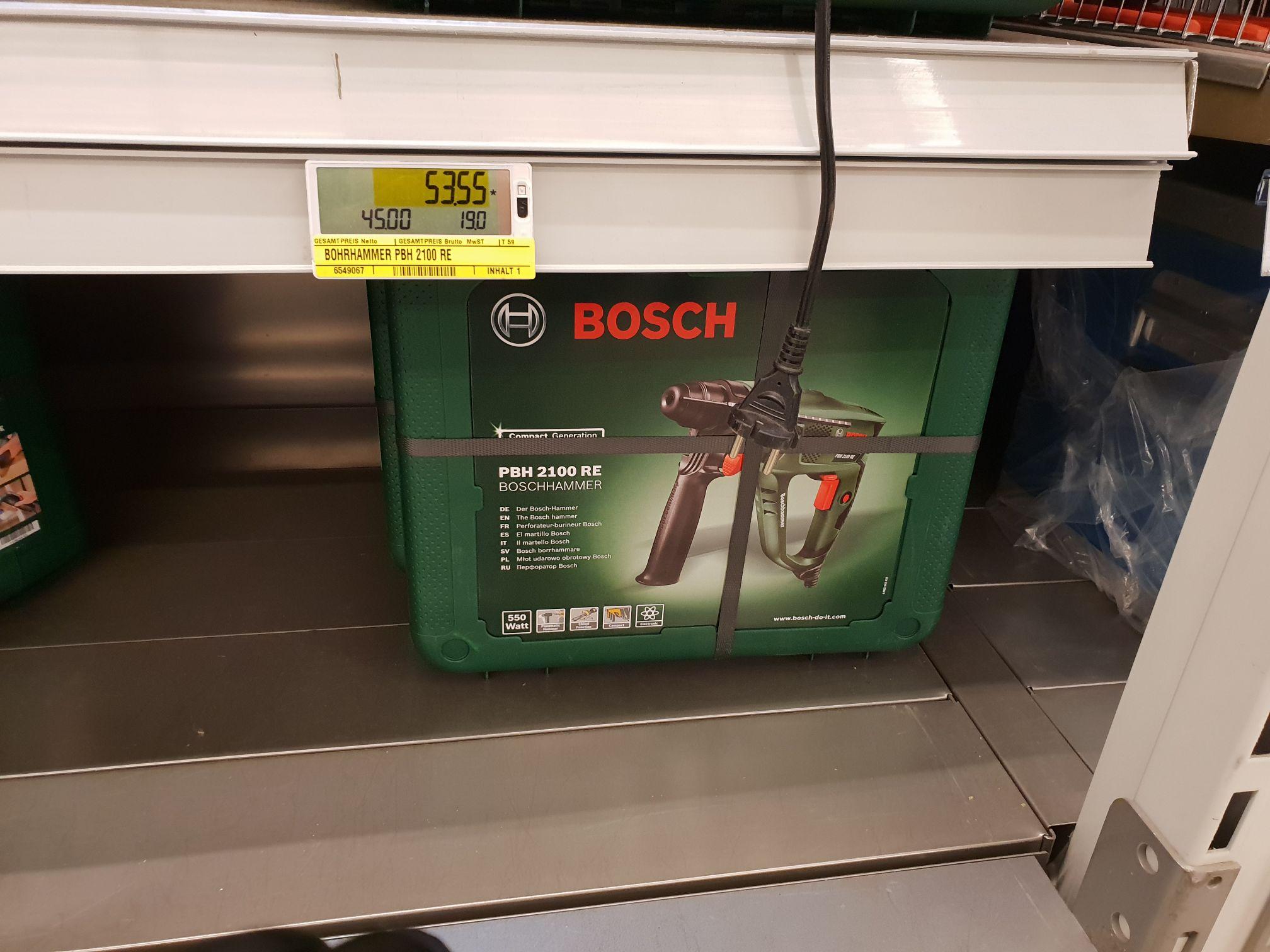 Bosch PBH 2100 RE Bohrhammer im Koffer [lokal Metro Berlin] Netto 45€