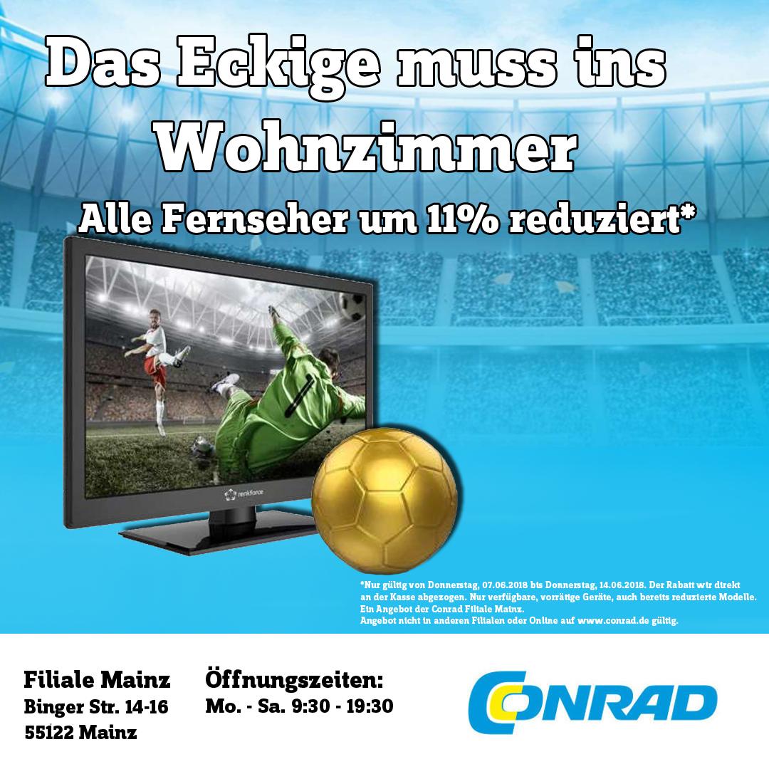 11% Rabatt auf Alle TV Gerät Vorort (Conrad Mainz)