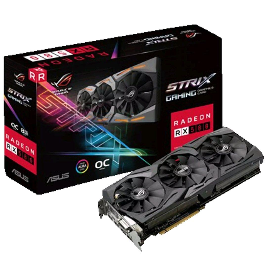 ASUS ROG RX 580 8GB GPU (313,20 mit 6% / 266,40 mit USA 20%)