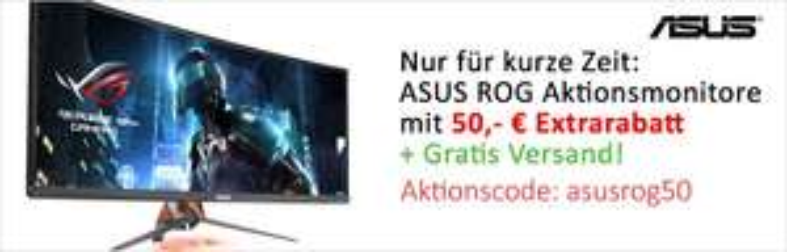 """Asus Rog XG27VQ 144HZ 27"""" Freesnyc Monitor und weitere mit 50€ Rabatt @Computeruniverse"""