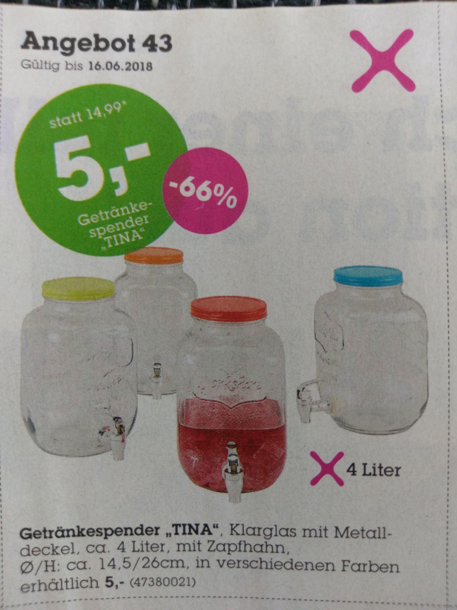 """Getränkespender """"Tina"""" ca. 4 Liter mit Zapfhahn - Mömax"""