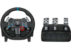 [Saturn] LOGITECH G29 Driving Force-Rennlenkrad, Lenkrad, Schwarz + Gran Turismo Sport Day 1 Edition - PlayStation 4 für 199,-€
