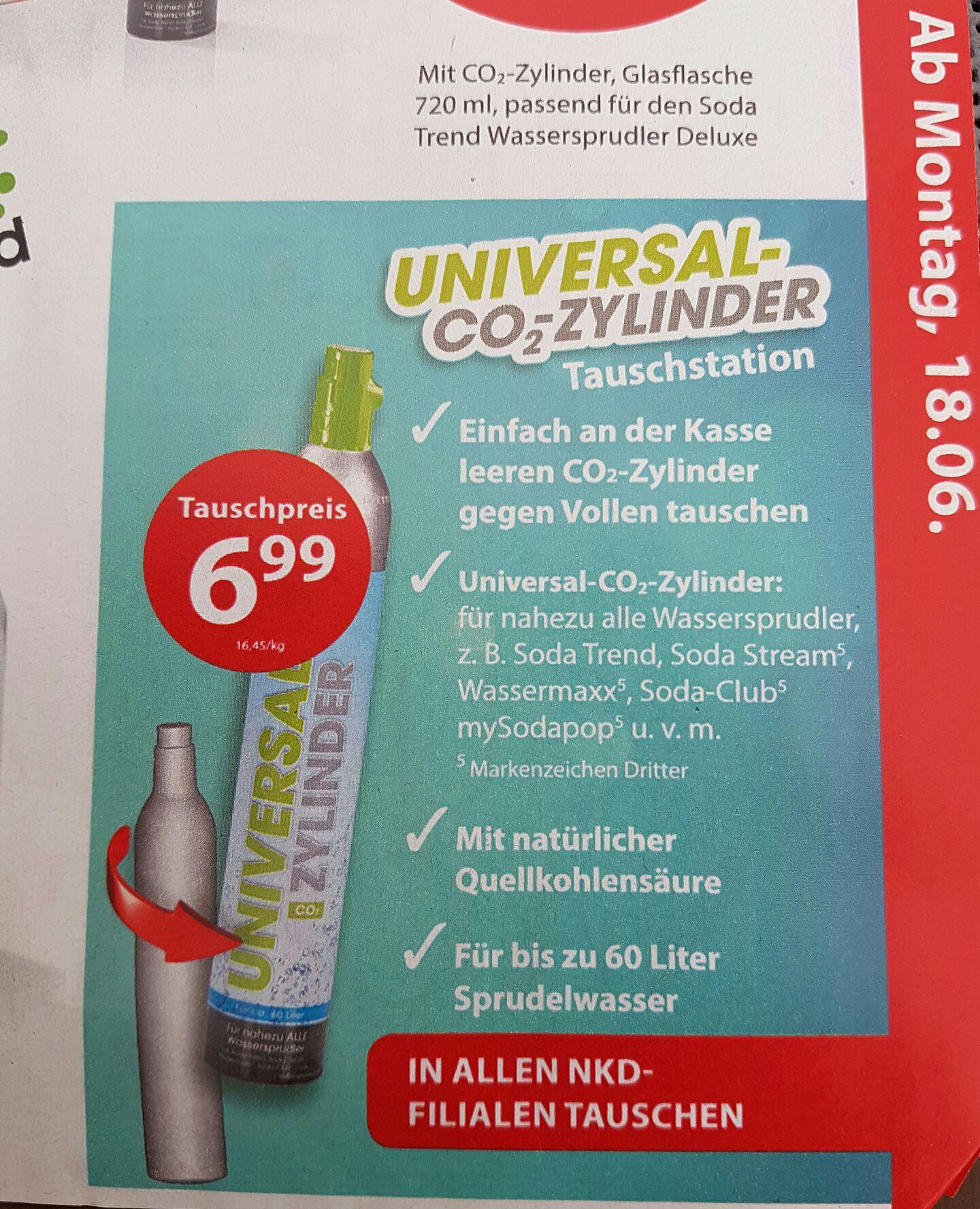 [NKD] Universal CO2-Zylinder (im Tausch) z.B. Sodastream, Wassermaxxx