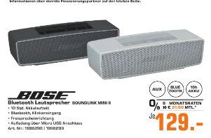 [Regional Saturn Essen/Mülheim/Oberhausen] BOSE SoundLink Mini Bluetooth speaker II, Bluetooth Lautsprecher in 2 Farben für je 129,-€