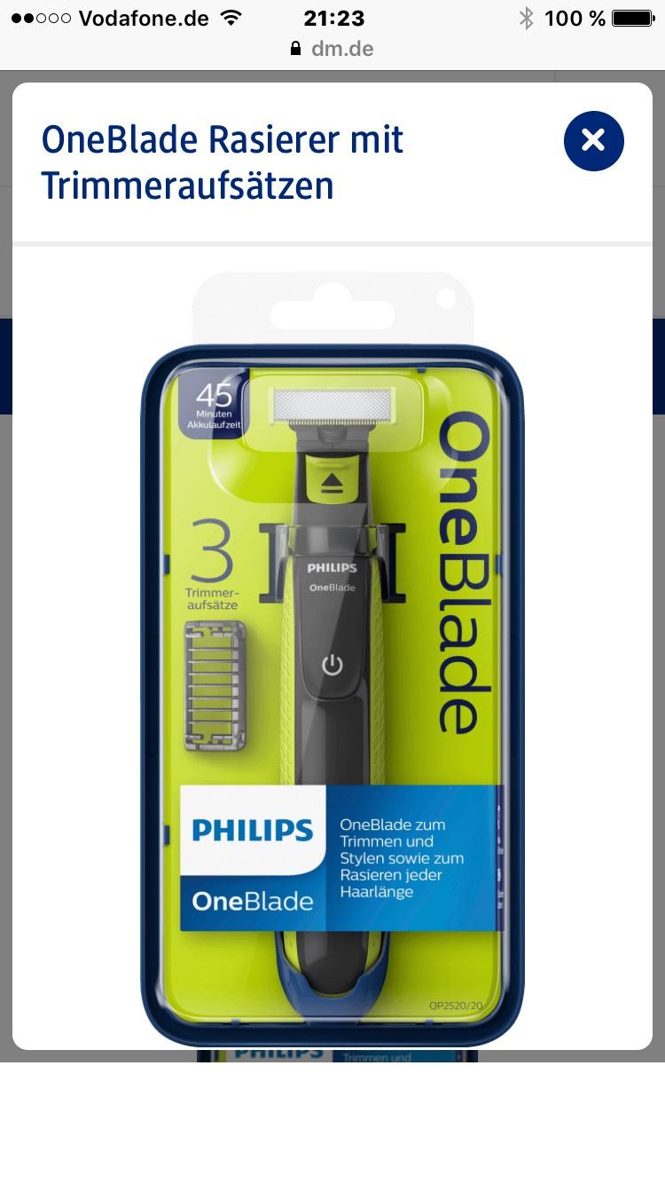 Philips OneBlade Rasierer mit Trimmeraufsätzen, 1 St bei Rossmann