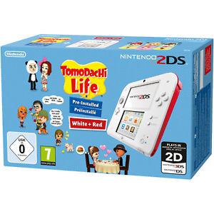 Nintendo 2DS - Konsole (Weiß & Rot) inkl. Tomodachi Life für 61,60€ (eBay Media Markt)