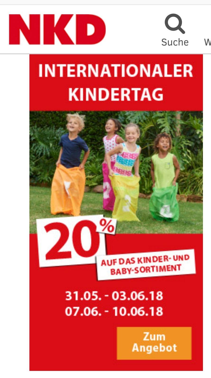 20% auf Kindermode bei NKD