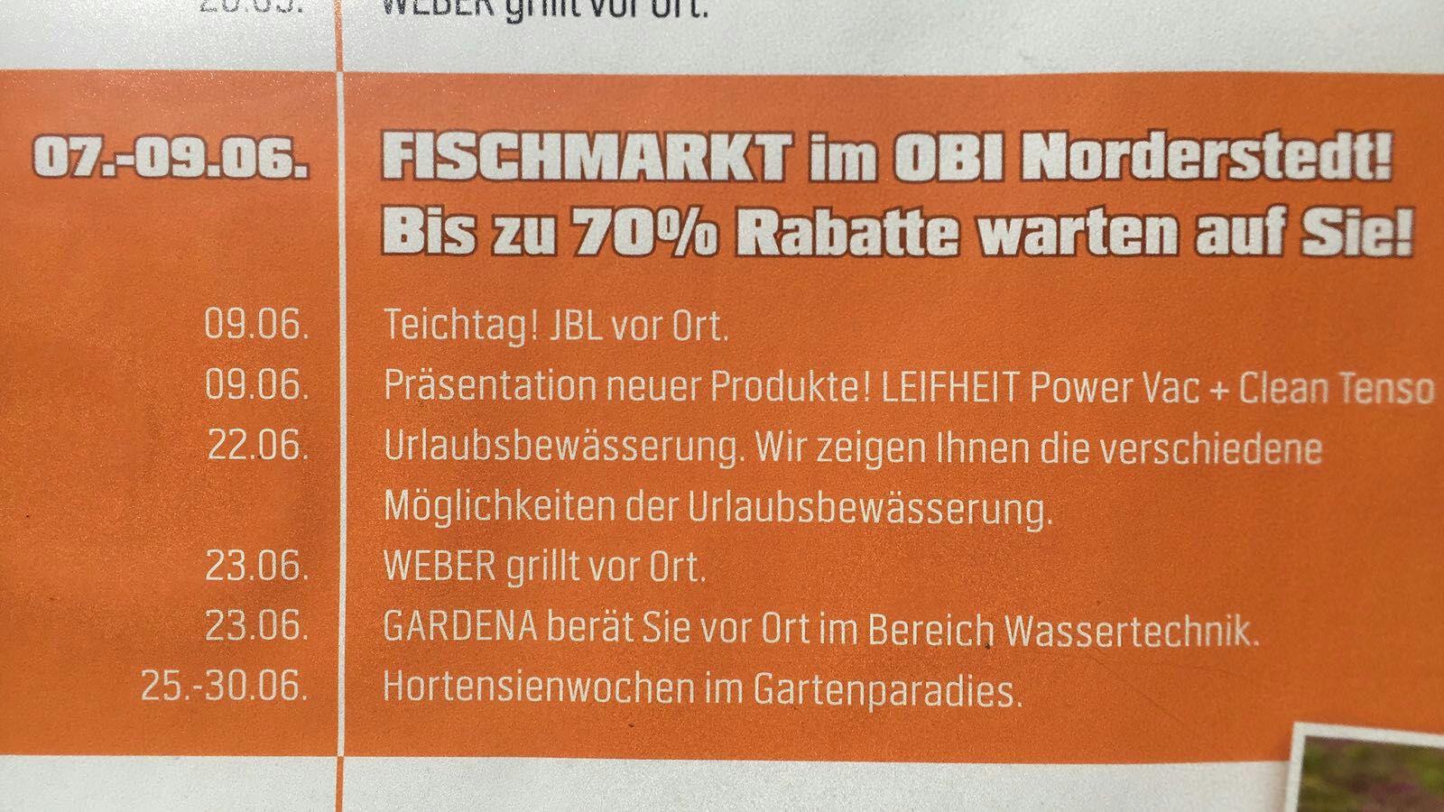[LOKAL] Norderstedt Fischmarkt bei OBI und Plambeck