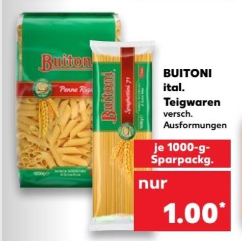 [Kaufland] 1000 Gr. Buitoni italienische Pasta, verschiedene Formen - 1Kilo 1 Euro