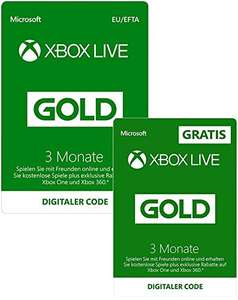 6 Monate Xbox Live Gold für 19,99€ & für 17,05€ KK (Amazon & Amazon UK)