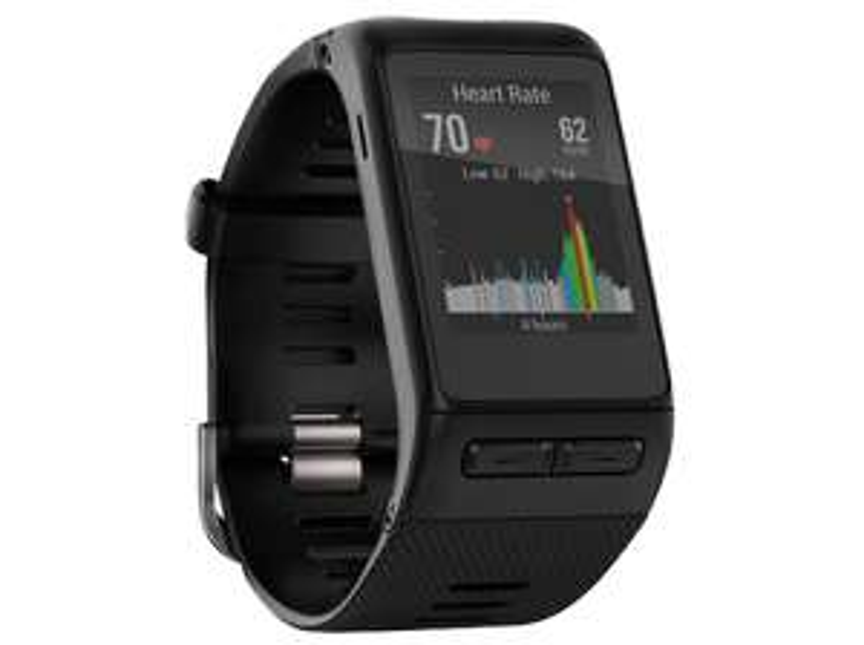 GARMIN Vivoactive HR Regular, Sport-GPS-Smartwatch mit Herzfrequenzmessung am Handgelenk, 137-195 mm, Schwarz Fitnessuhr  Tracker Uhr Fitnesstracker Fitness