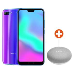 "[cyberport@eBay] Honor 10 - 5,84""  Full HD+ Smartphone (2280x1080, 64GB, 4GB RAM, 16/24/24MP, Dual-SIM, Quick Charge, Android 8.1) in blau oder schwarz + Google Home Mini kreide"