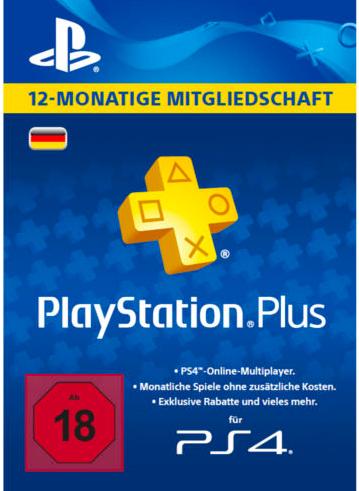 Sony Playstation 12 Monate Mitgliedschaft PSN