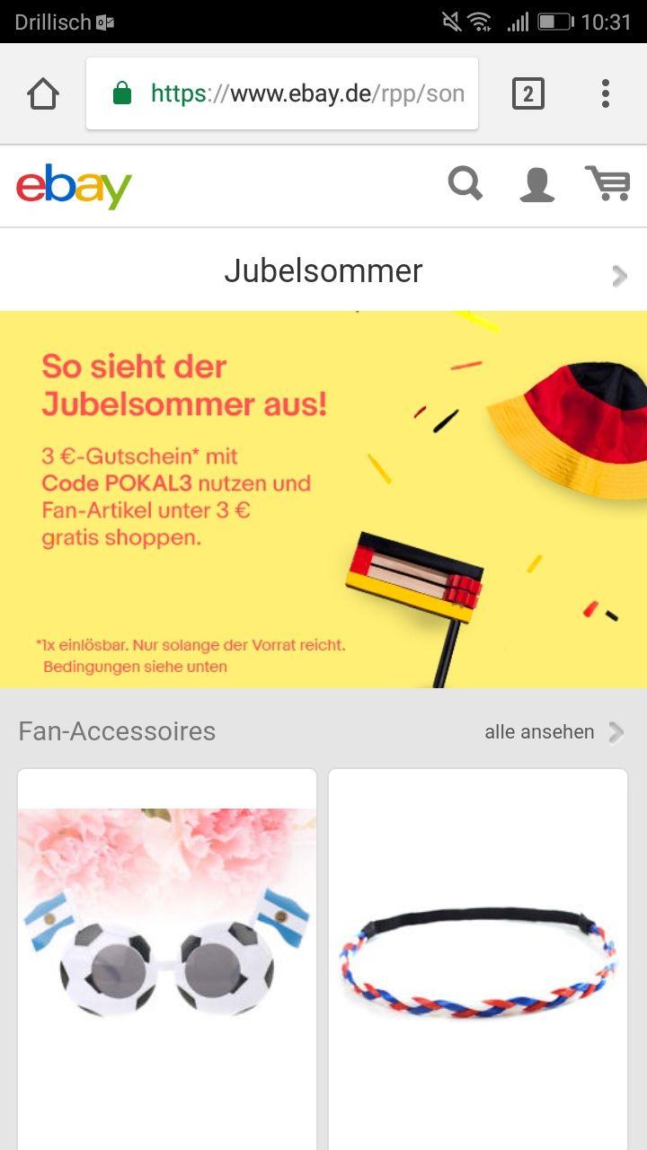 Jubelsommer - 3€ Gutschein auf WM-Merchandise
