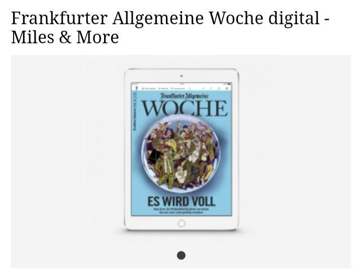 Frankfurter Allgemeine Woche digital - 10.000 Miles & More