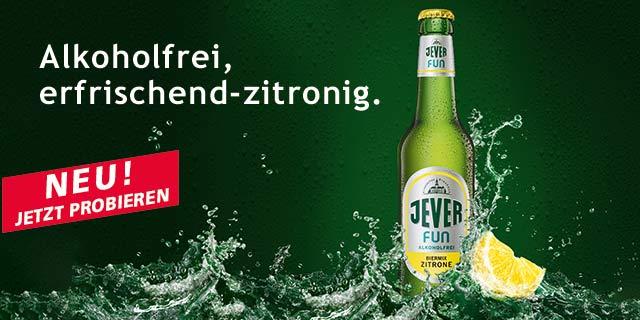 25% Cashback für Jever Fun Zitrone Six-Pack  (Alkoholfrei) über Coupies