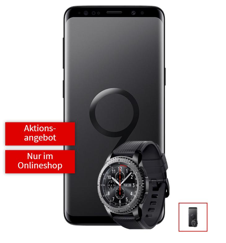 Galaxy S9 inkl. Gear S3 und Tarif im Angebot bei MediaMarkt