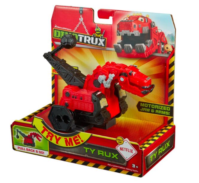 Dinotrux Spielzeug: Rückzieh Dino T-Rux bei [ToysRUs]