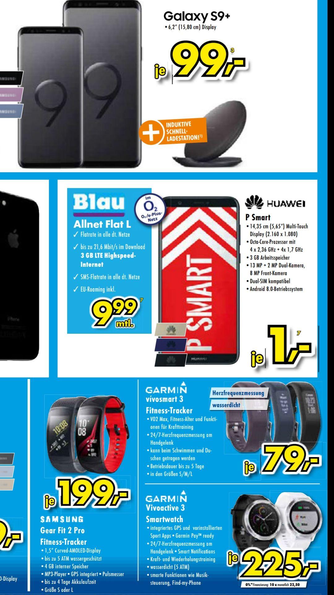 Lokal in Kamen und Menden: Huawei P Smart mit Blau Allnet L 9,99 Eur / Monat