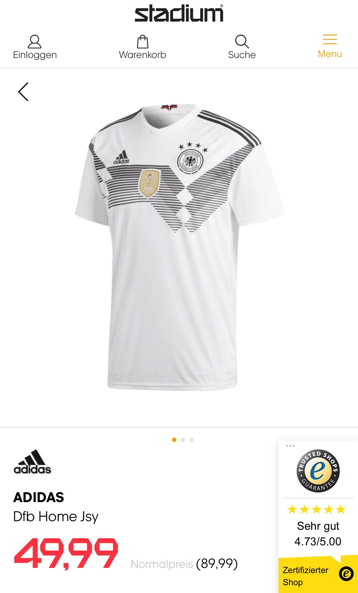 Adidas Deutschland Trikot [S-XL] WM 2018 Heim und Auswärts bei Filialabholung