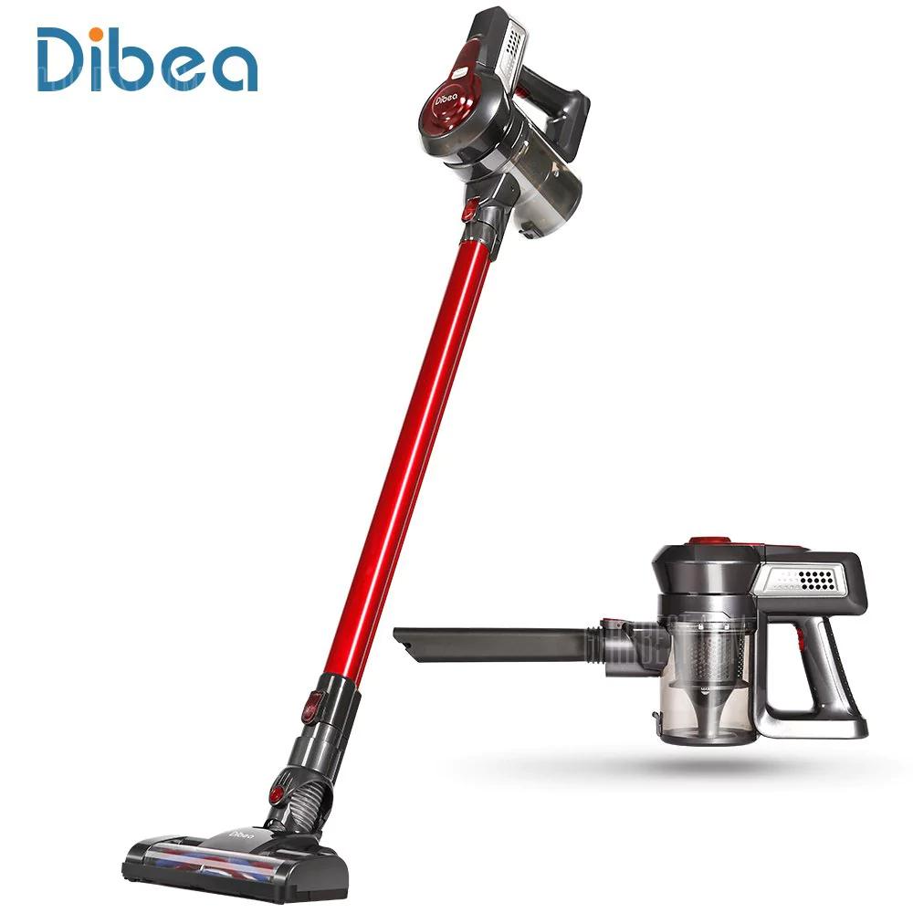 (Gearbest) Akku-Sauger Dibea C17 - 2in1 Wireless Vacuum Cleaner - RED