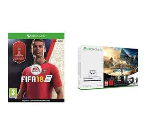Xbox One S 1 TB + Assassin's Creed Origins + Tom Clancy's Rainbow Six Siege + Fifa 18 und weitere Bundles für je 204,73€ (Amazon.es)