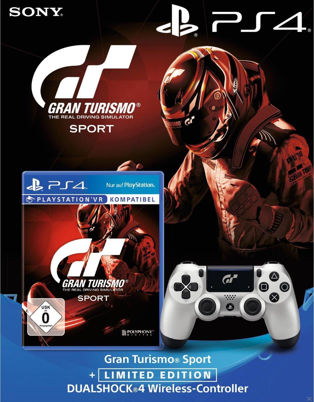 Gran Turismo Sport (PS4) inkl. Limited Edition GT Sport DualShock 4 Wireless Controller für 49,99€ & Gran Turismo Sport Collector's Edition für 39,99€ (GameStop)