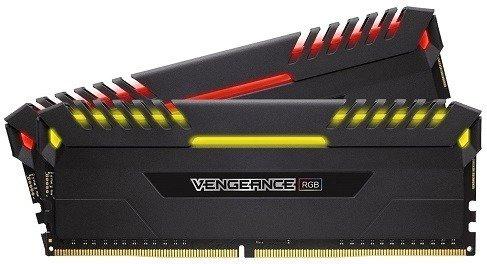 Arbeitsspeicher Corsair Vengeance RGB schwarz DIMM Kit 32GB (2x16GB), DDR4-3000