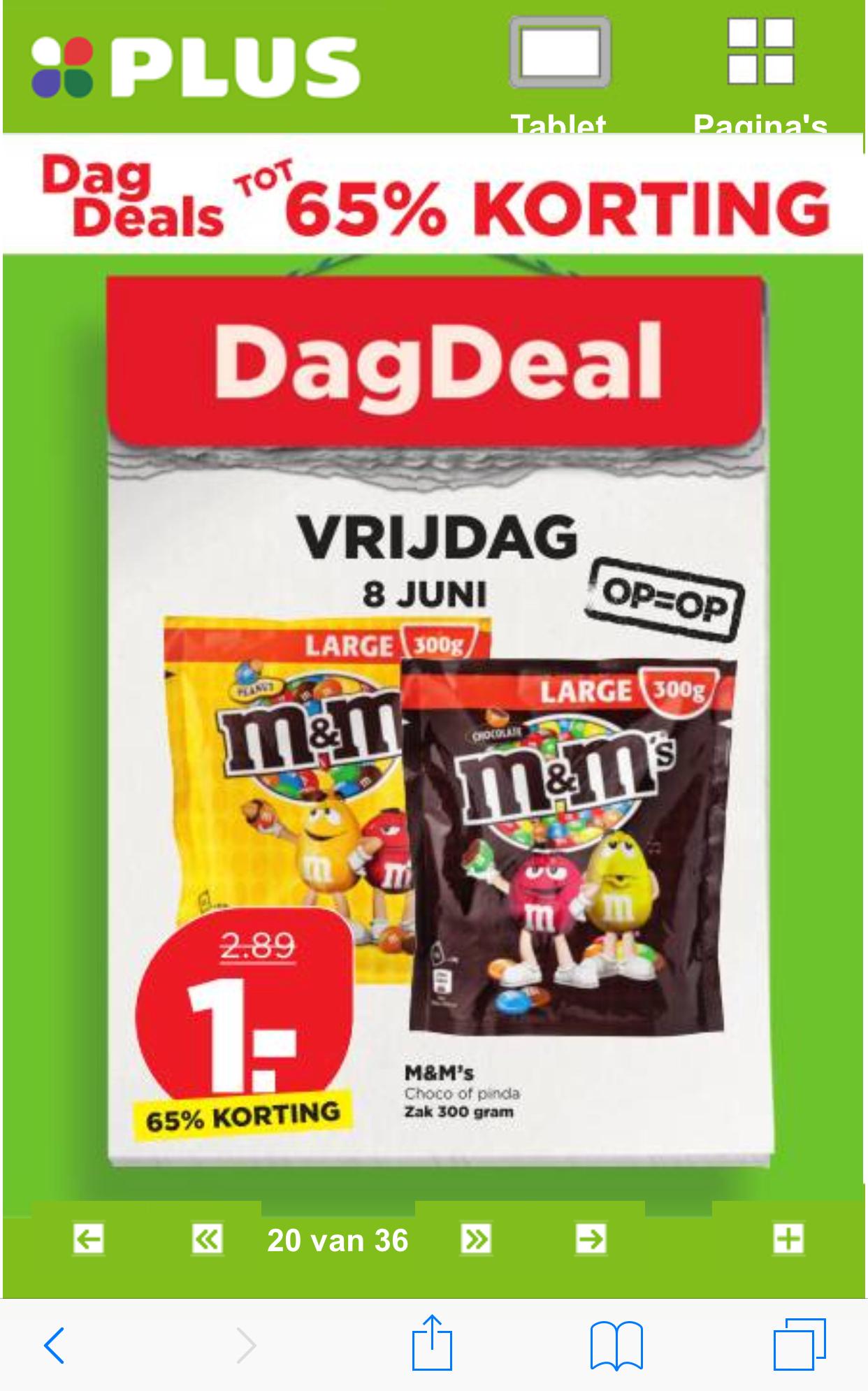 GRENZGÄNGER NL:M&M's 300Gr. Large (Schoko und Erdnuss)@PLUS