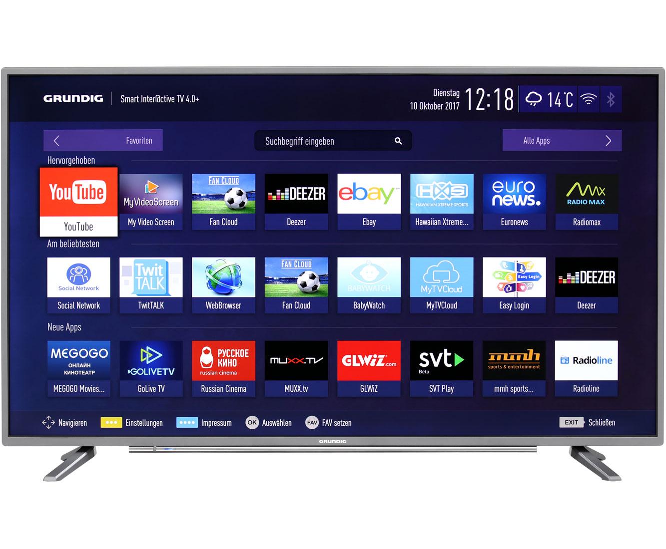 """Grundig 40 GUT/GUS 8768, 40"""" 102cm 4K-SmartTV HDR [ao.de@ebay]"""