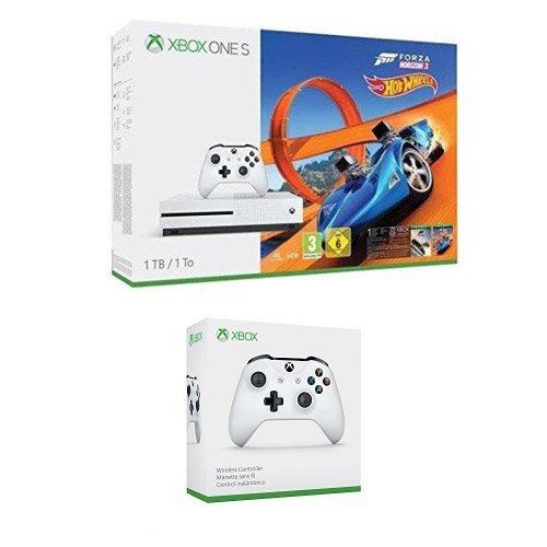 Xbox One S 1TB Konsole + Forza Horizon 3 & Hot Wheels + 2. Wireless Controller + Halo 5 + Gears of War + Playerunknown's Battlegrounds für 255,25€ (Amazon.fr)