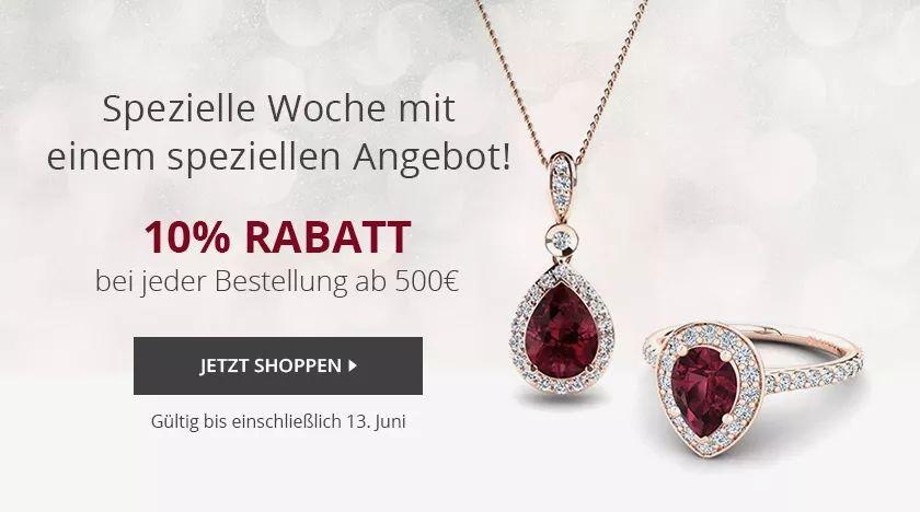 Glamira 10% Rabatt bei jeder Bestellung ab 500€