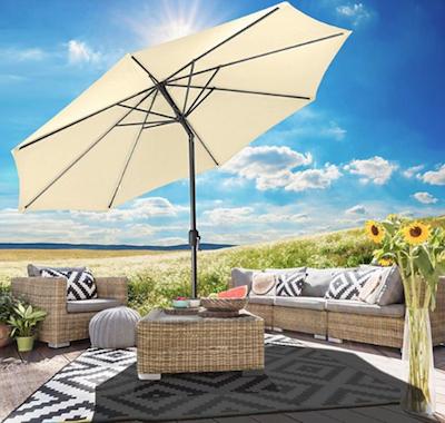 Prospektdeals (KW24) von Netto MD + 10% Gutschein ab 18 Uhr, z.B. Gartenfreude Sonnenschirm (300 cm)