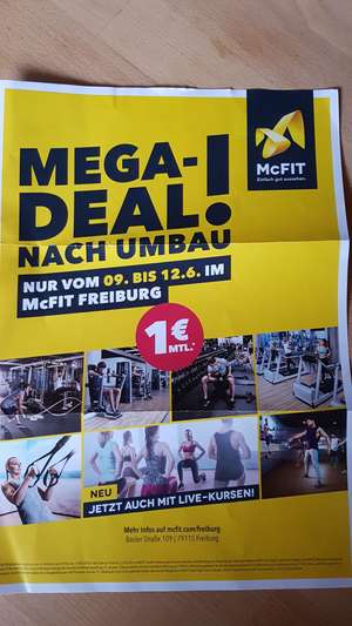 McFit Freiburg (lokal) 12 Monate für 154,40€ Umbauangebot